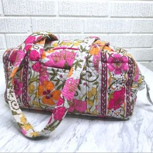 Vera Bradley Tea Party Handbag Shoulder Gray Pink